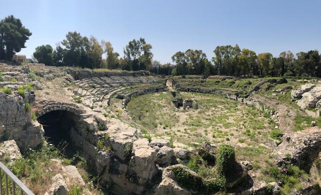 Amphithéâtre romain de Syracuse le 5 juin
