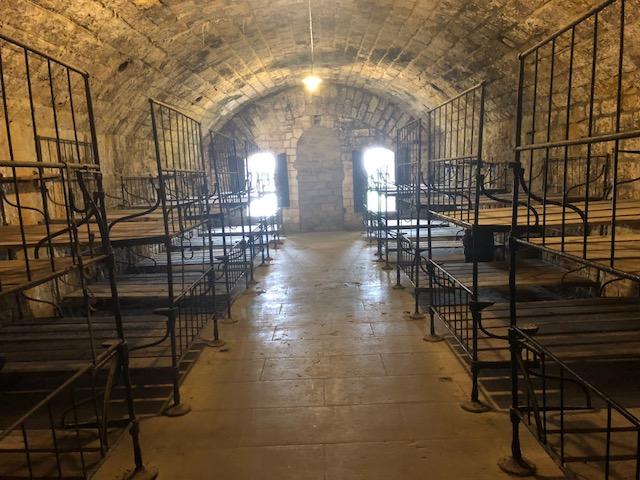 Dortoir des soldats du Fort de Douaumont