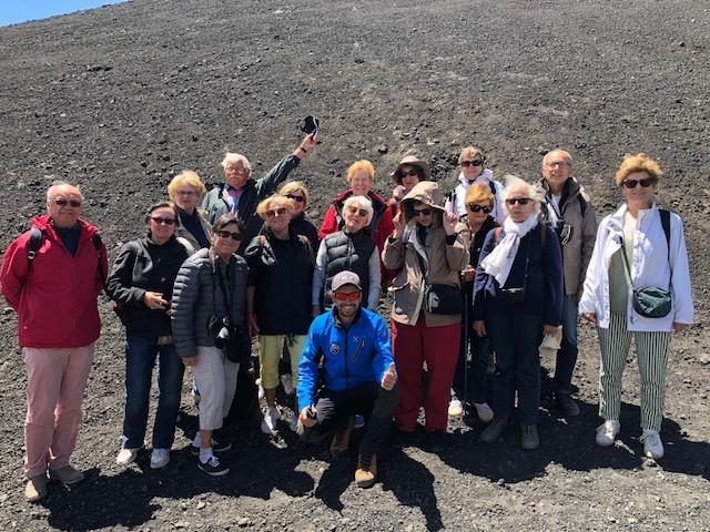 Randonneurs de l'ULRR sur les pentes de l'Etna à 3000 m !!!