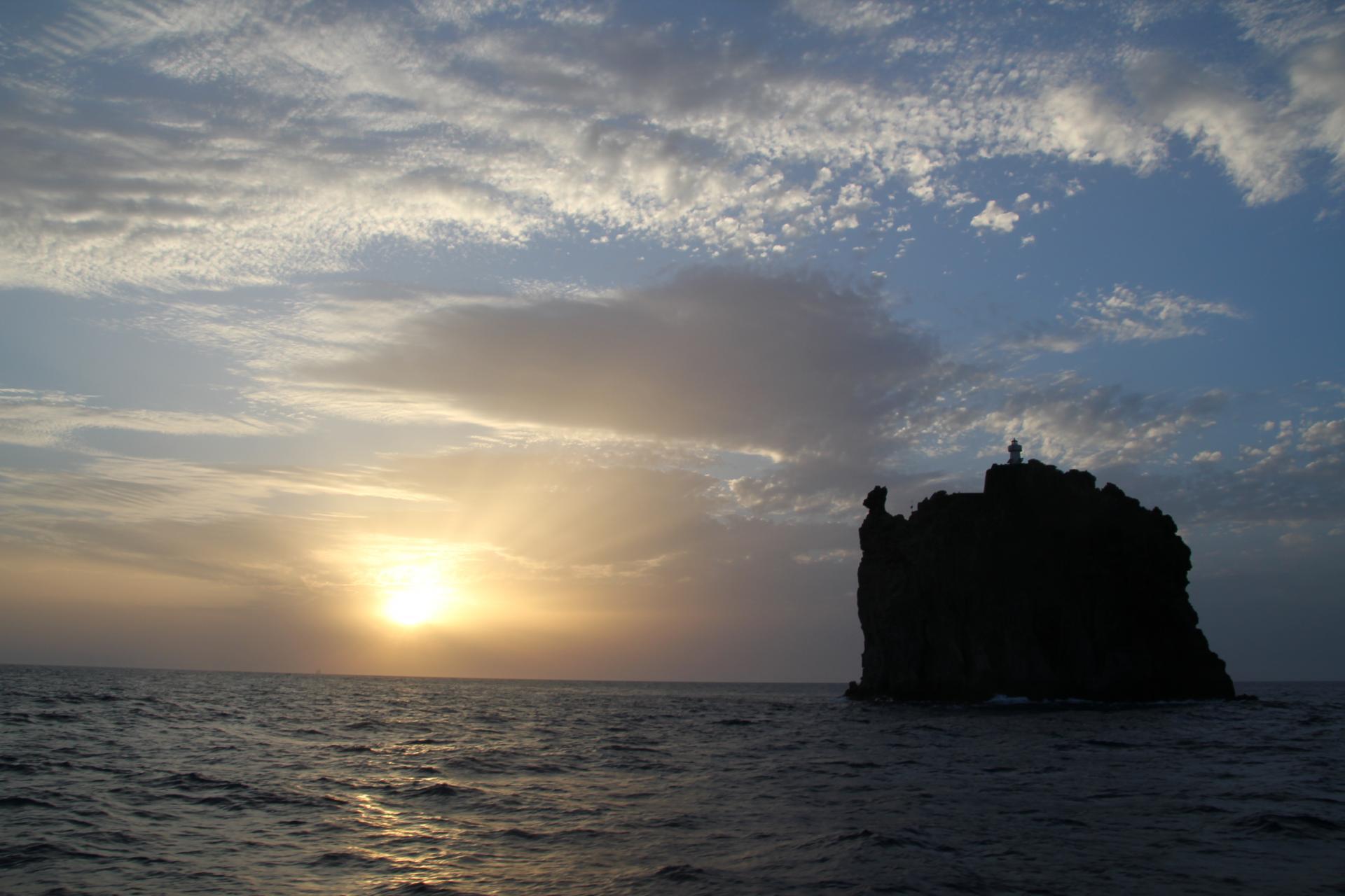 Coucher de soleil sur les îles