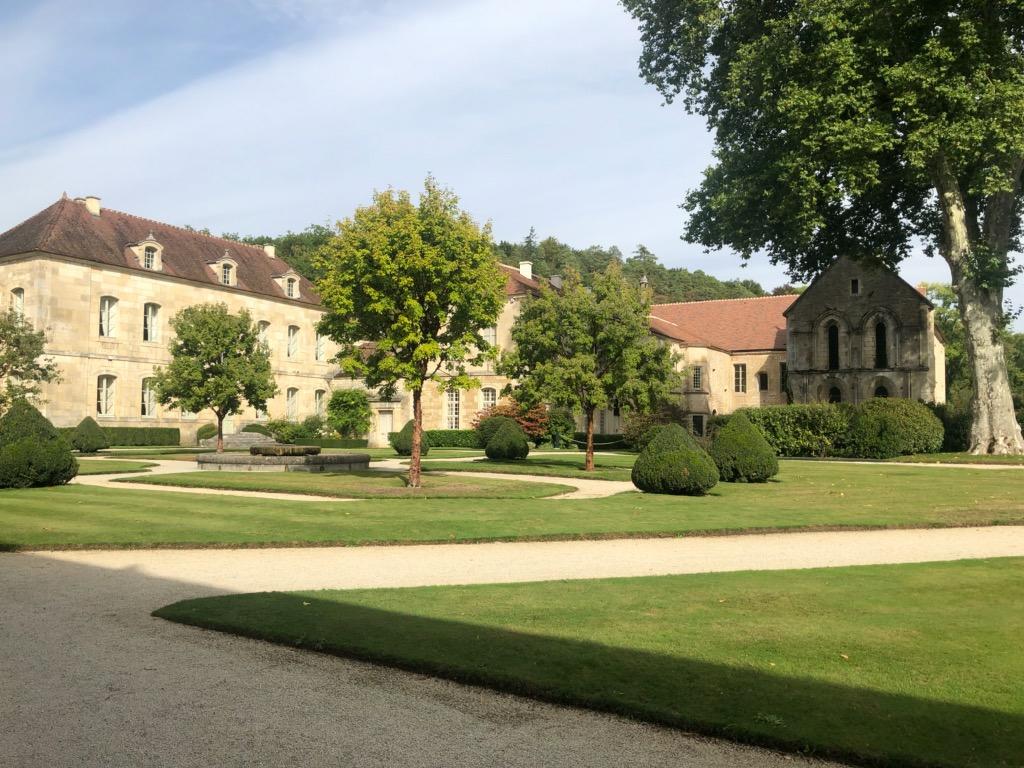L'entrée de L'Abbaye de Fontenay
