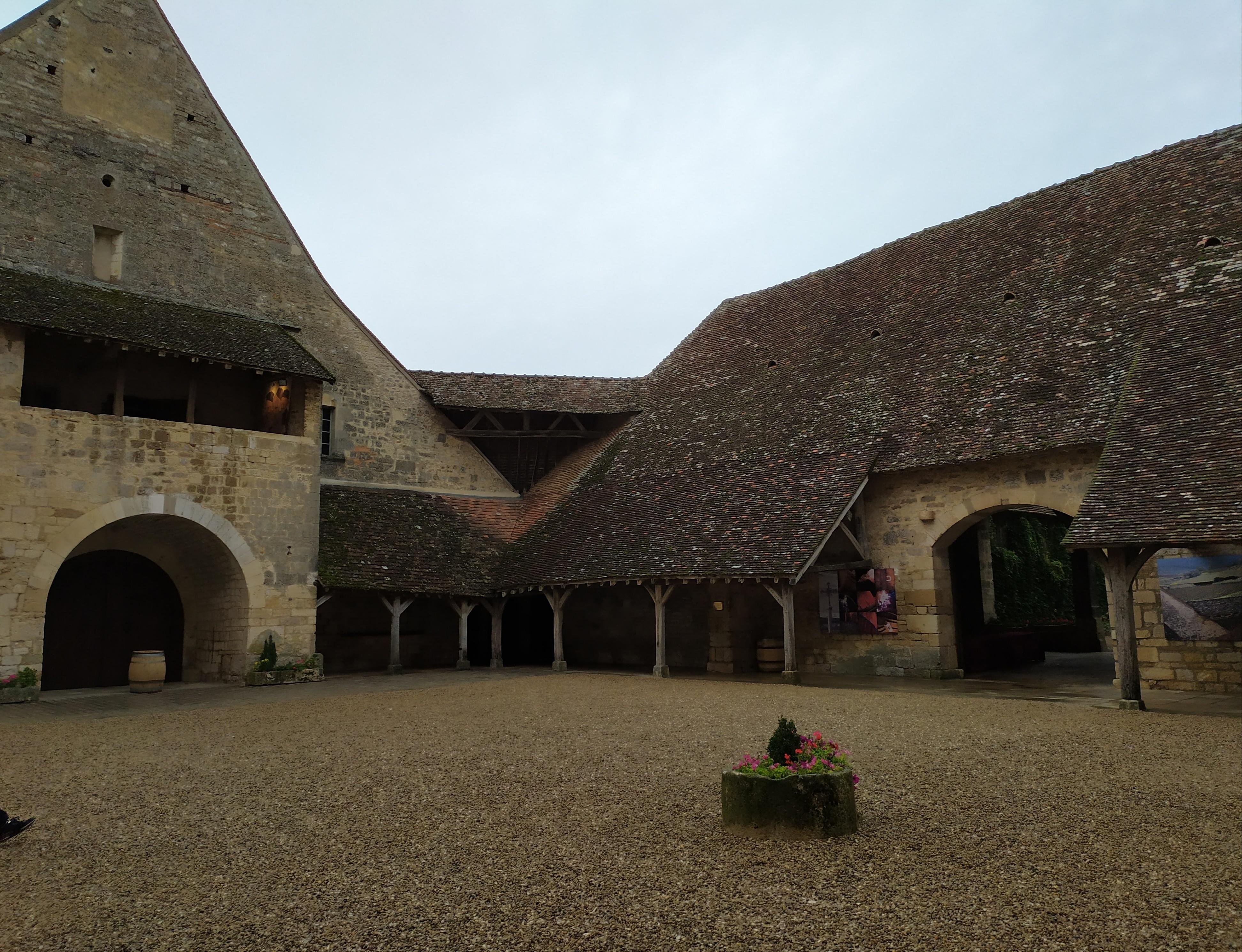 La cour intérieure du Château du Clos de Vougeot
