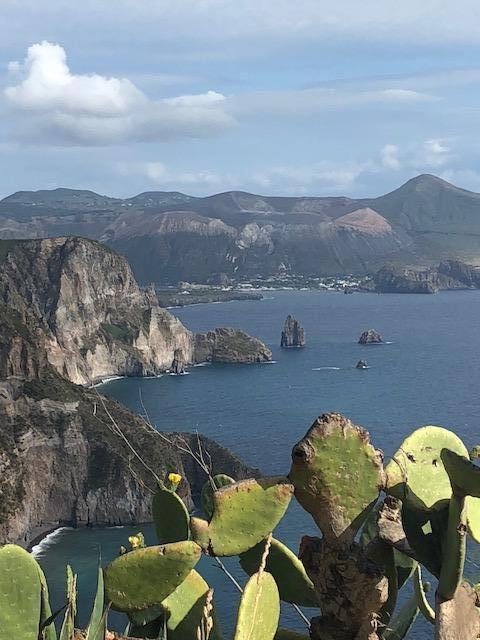 Panorama sur les hauteurs de Lipari