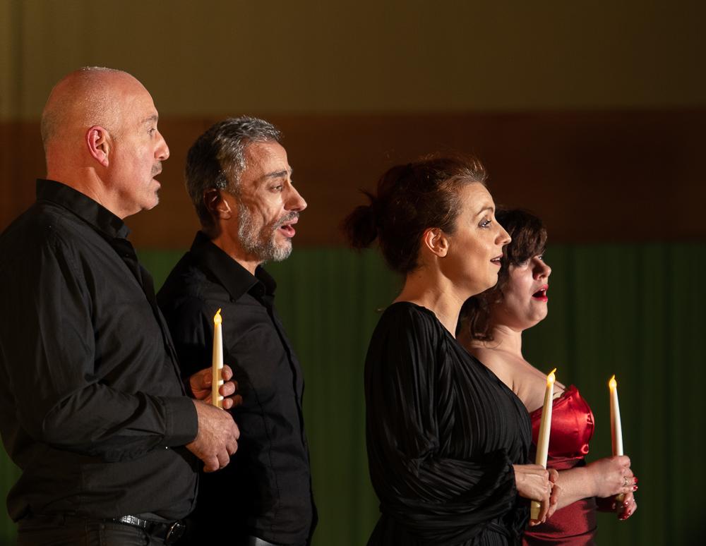 Valéria, Ariane, Philippe et Jean