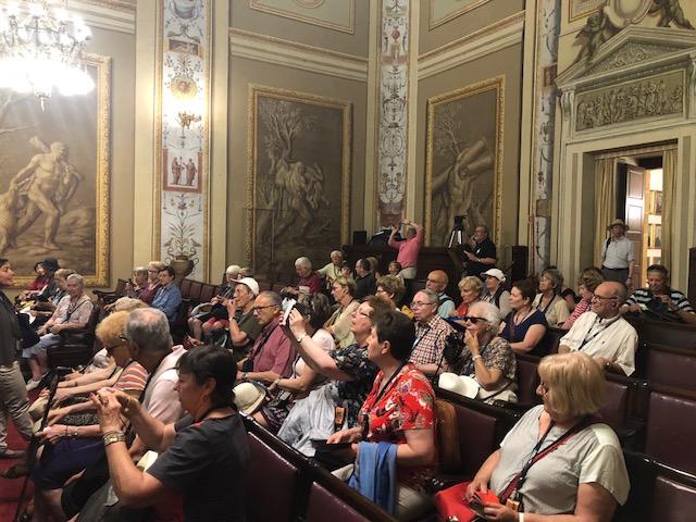 Visite au parlement à Palerme le 2 juin