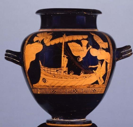 Ceramique grecque ulysse et les sirenes