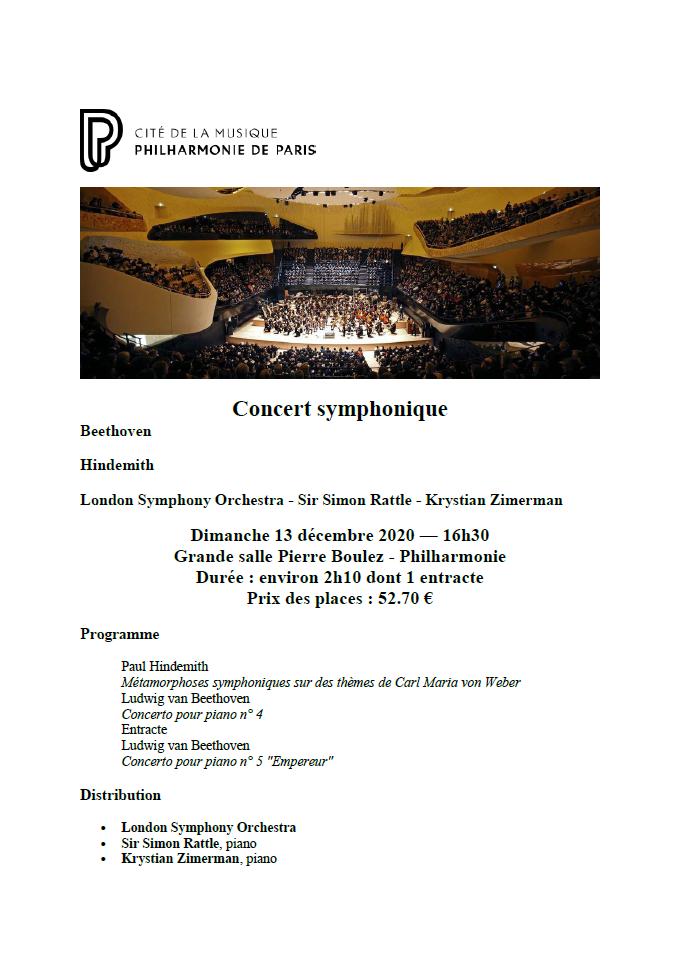 Concert du 13 decembre 2021