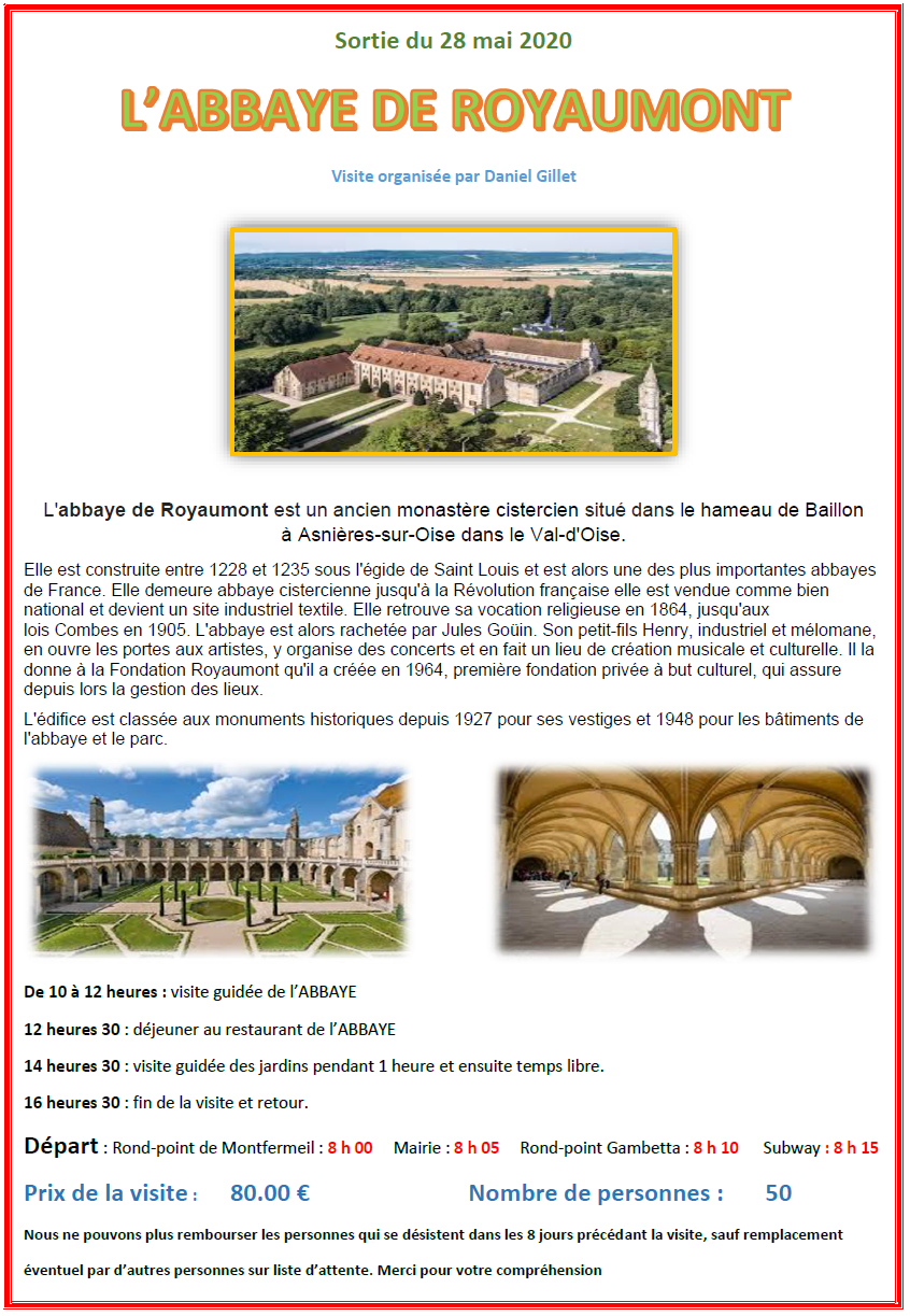 L abbaye de royaumont 1