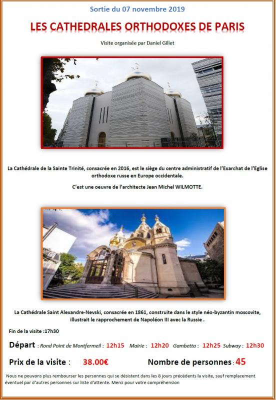 Les cathedrales orthodoxes de paris