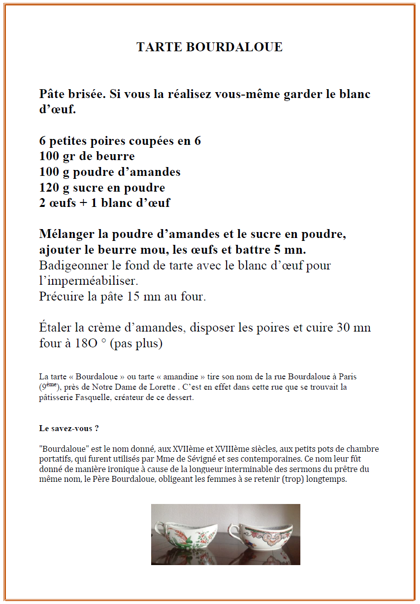 Tarte bourdaloue 1